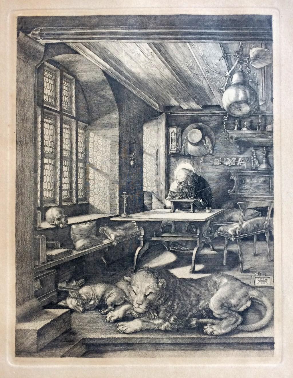 Dürer Albrecht (1471 - 1528) : sv. Jeroným ve studovně