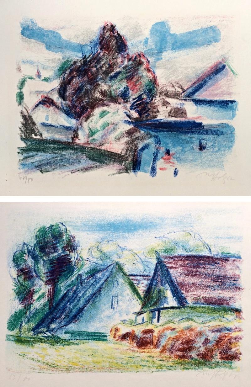 Holý Miloslav (1897 - 1974) : 2 grafické listy