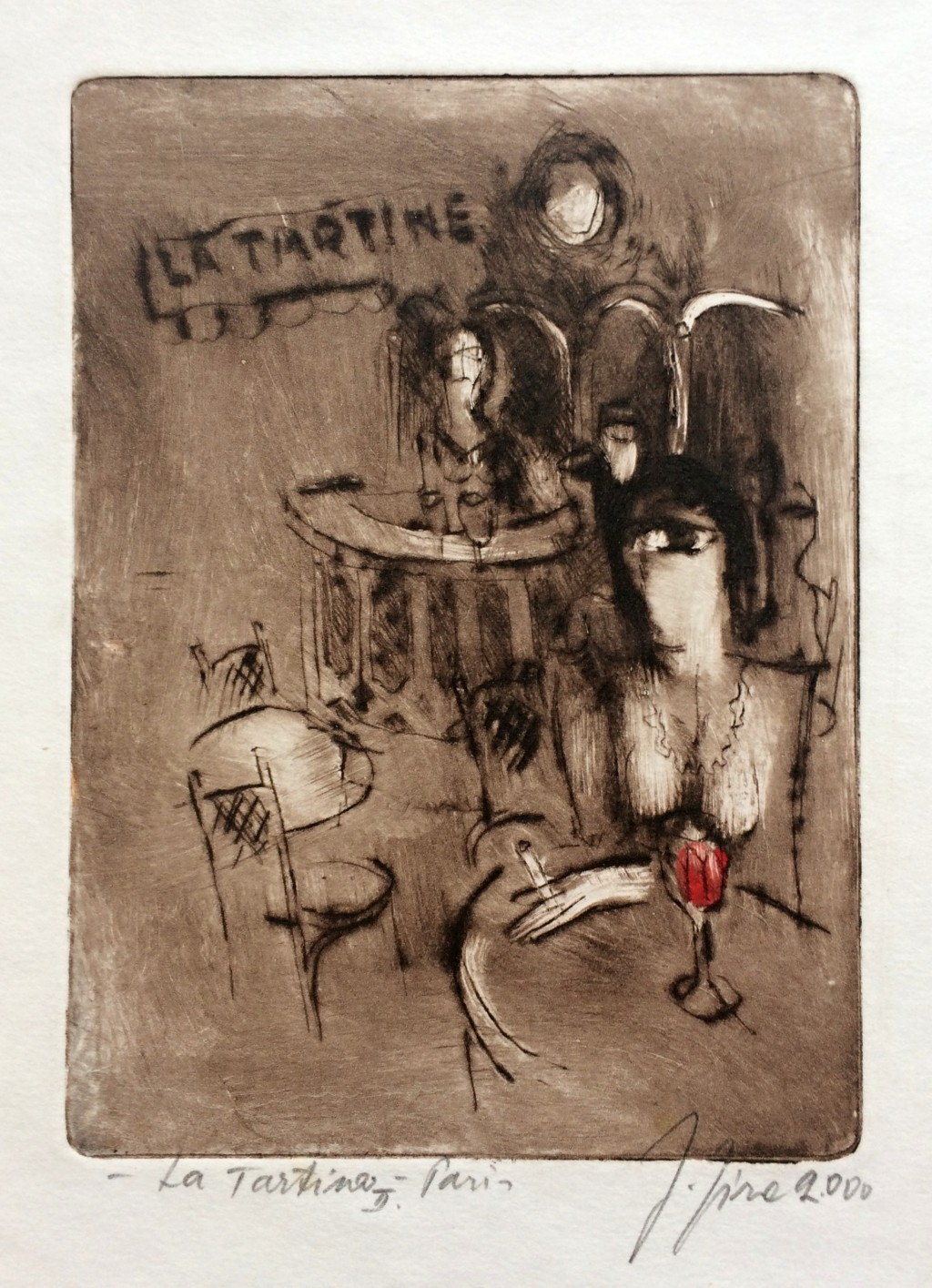 Jíra Josef (1929 - 2005) : La Tartine II - Paris