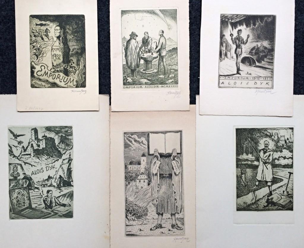 Konůpek Jan (1883 - 1950) : konvolut 6 grafických listů