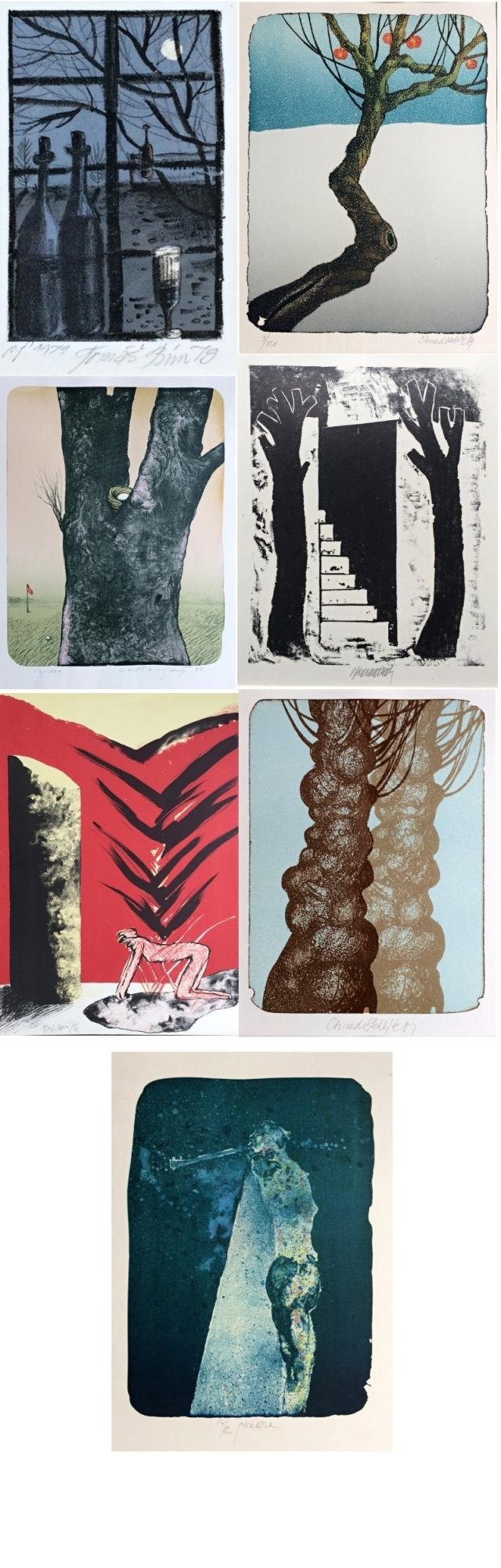 Konvolut grafik  : 7 grafik různých autorů
