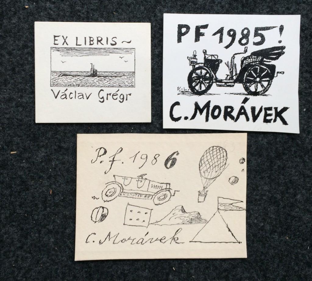 Lhoták Kamil (1912 - 1990) : 2x PF, 1x Ex libris