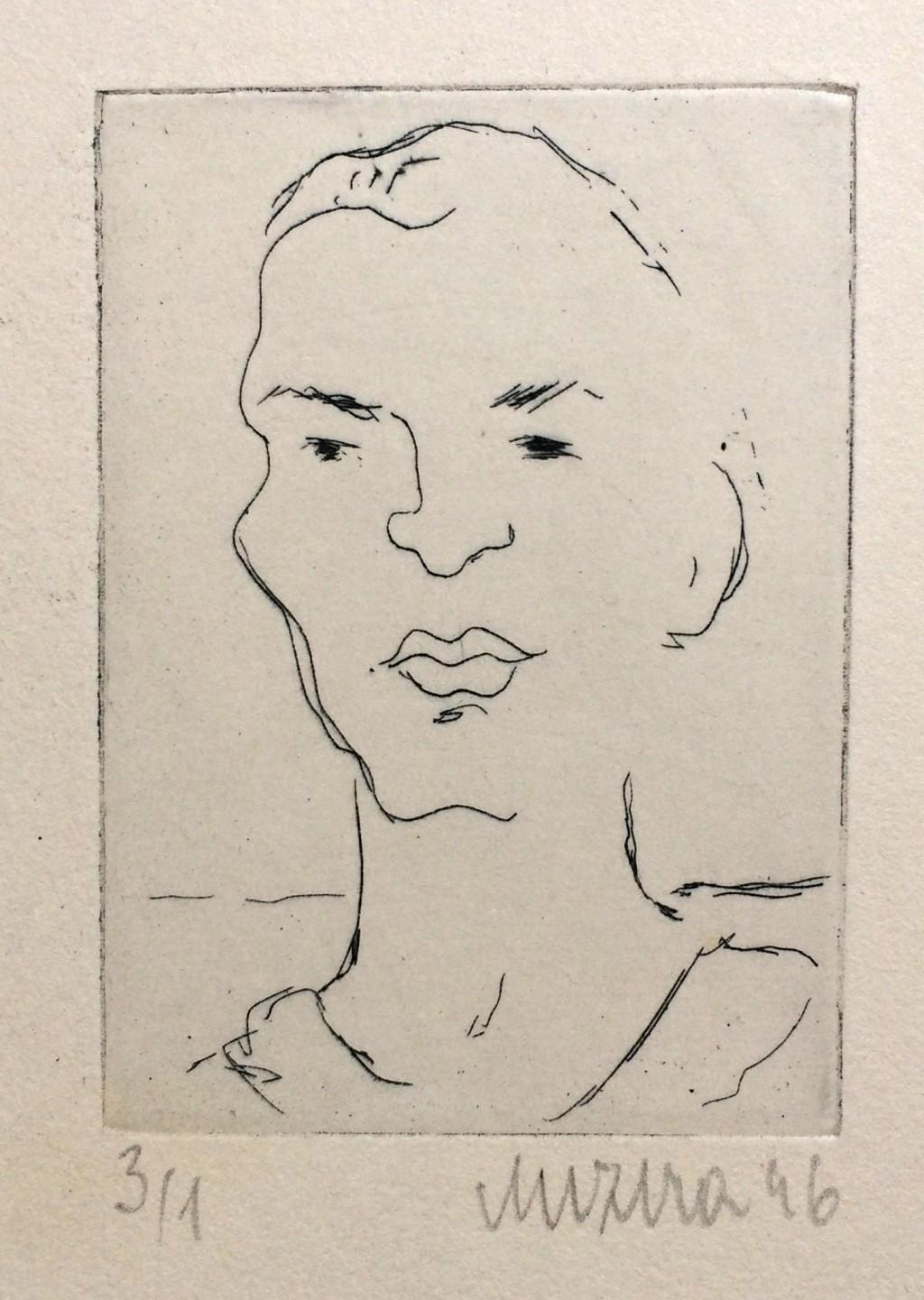 Mizera Otta (1919 - 1952) : Autoportrét