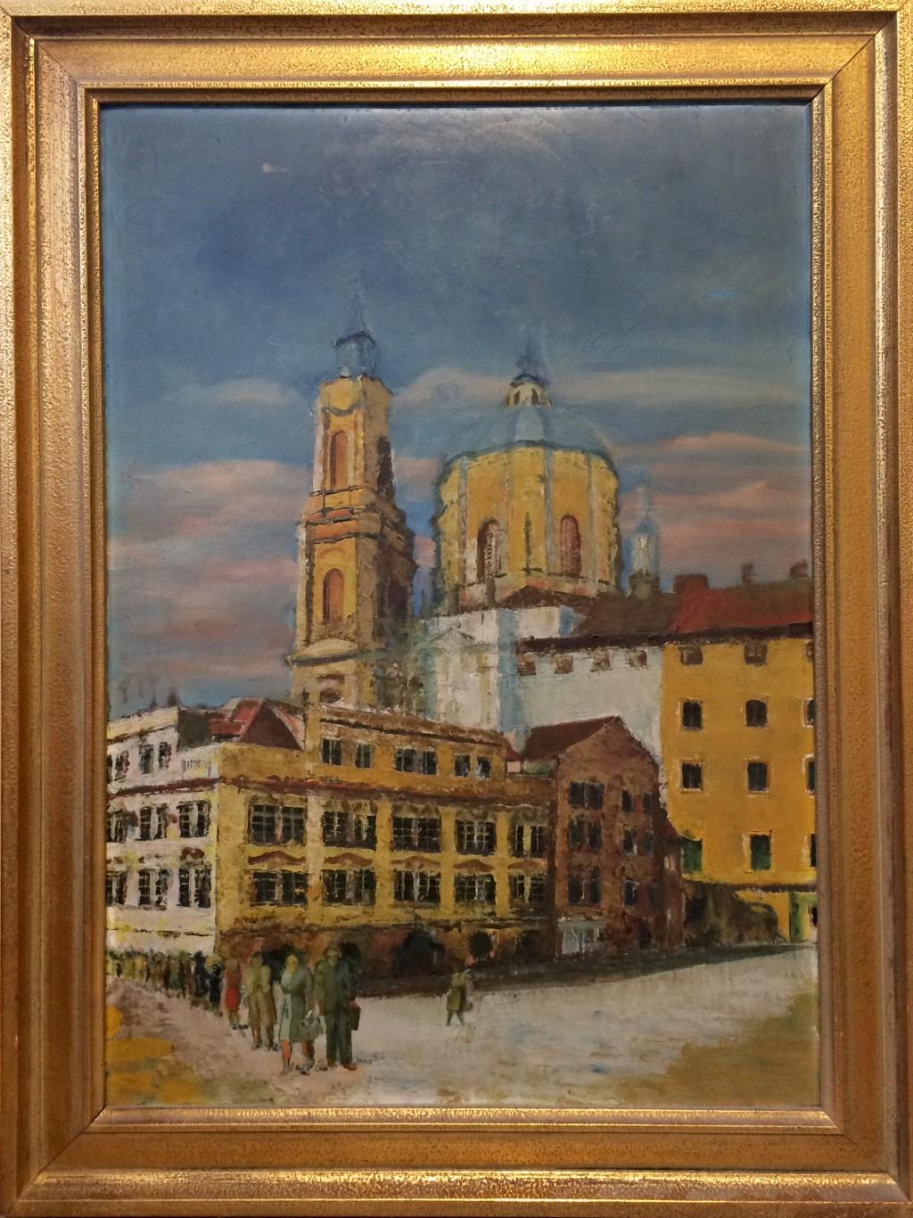 Neznámý autor  : Malostranské náměstí s kostelem sv. Mikuláše
