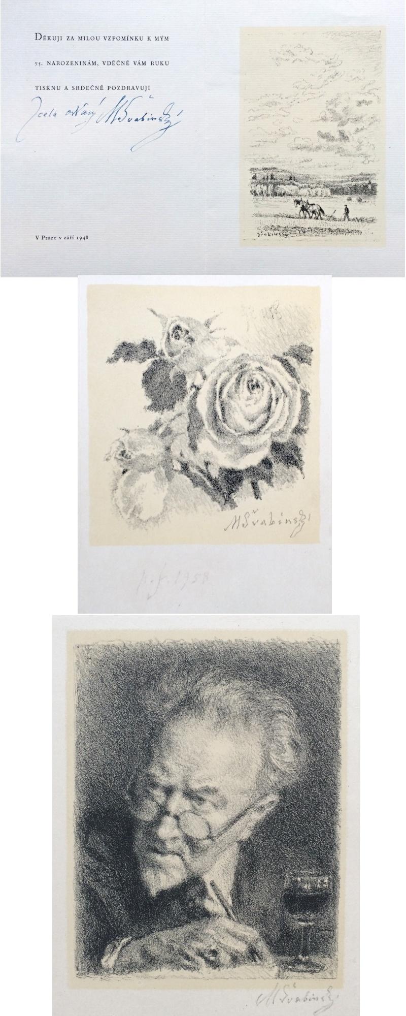 Švabinský Max (1873 - 1962) : Konvolut 3 grafických listů