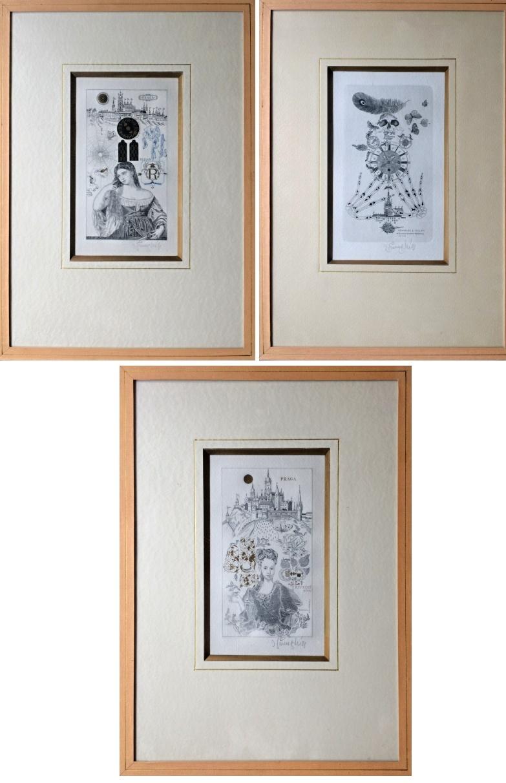 Švengsbír Jiří (1921 - 1983) : Konvolut 3 grafických listů
