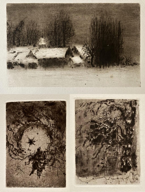Reynek Bohuslav (1882 - 1971) : 3x grafika (novotisk)