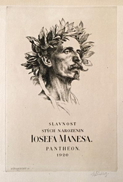 Švabinský Max (1873 - 1962) : Slavnost 100. narození J. Mánesa