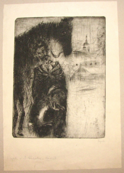 Reynek Bohuslav (1882 - 1971) : Z cyklu o D. Quijotovi - návrat