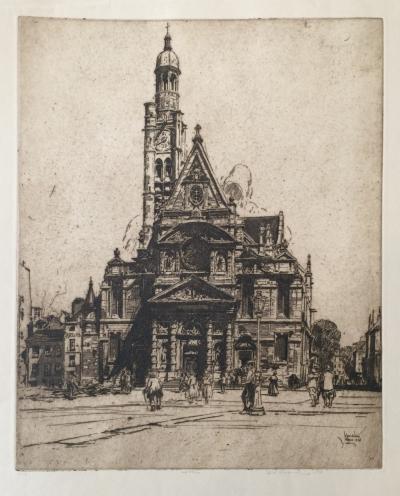 Vondrouš Jan Charles (1884 - 1970) : Katedrála v Paříži