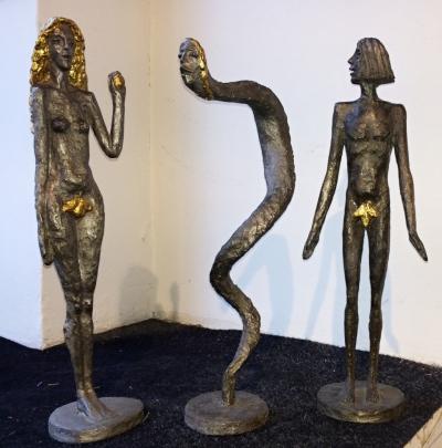Zoubek Olbram (1926 - 2017) : Adam, Eva a Had