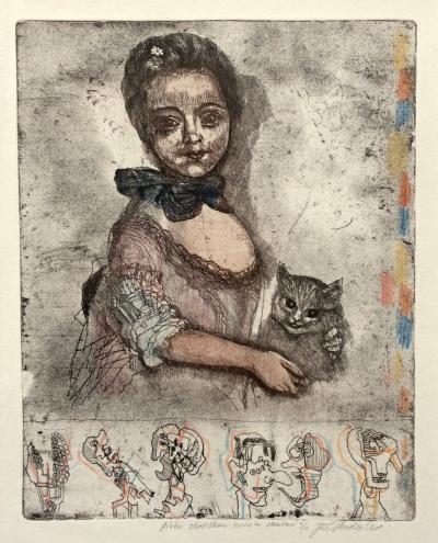 Anderle Jiří (1936) : Dívka s kočičkou