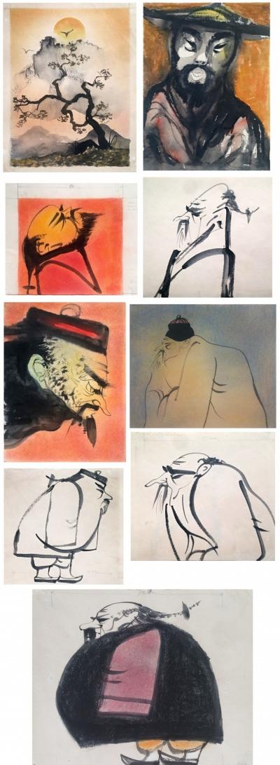 Janeček Ota (1919 - 1996) : O lékaři Pingovi - knižní ilustrace