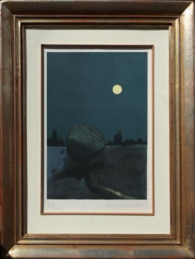 Lhoták Kamil (1912 - 1990) : Noční start balónu Victor Hugo