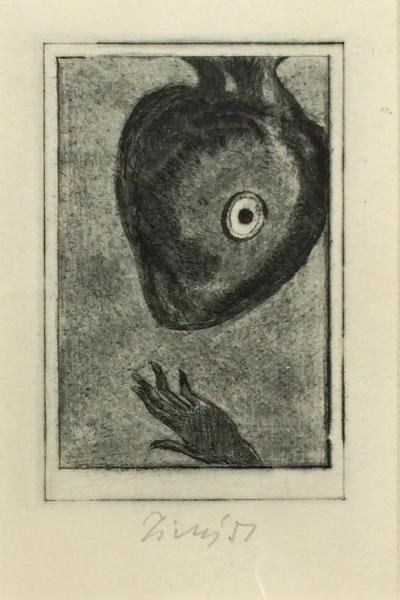 Tichý František (1896 - 1961) : Ilustr. k povídce E.A. Poea, Zrádné srdce
