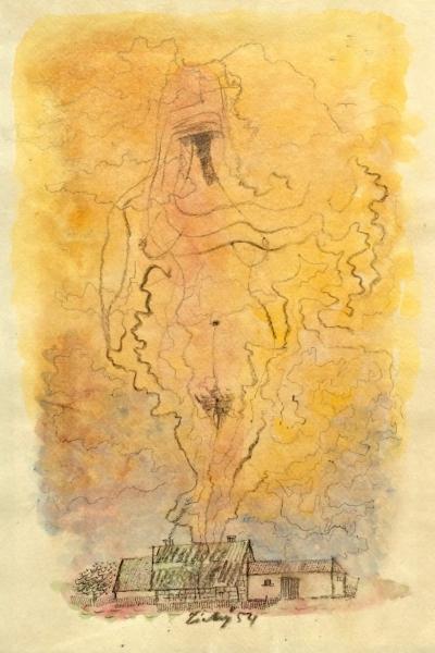 Tichý František (1896 - 1961) : Dívka v oblaku