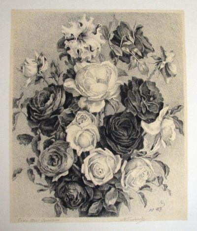 Švabinský Max (1873 - 1962) : Kytice růží