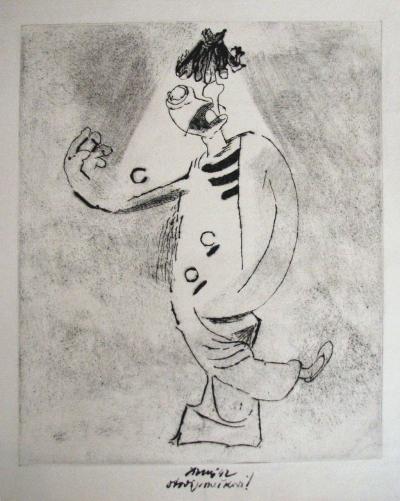 Tichý František (1896 - 1961) : Clown s lampou