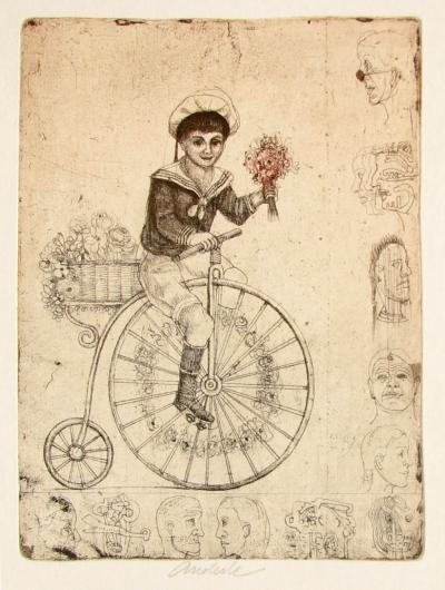 Anderle Jiří (1936) : Chlapec na kole