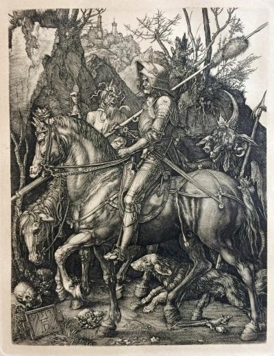 Dürer Albrecht (1471 - 1528) : Rytíř,dábel a smrt