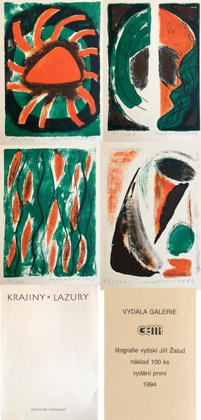 Hodonský František (1945) : Krajiny - lazury
