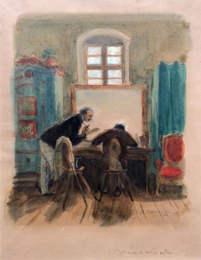 Naumann Arno (1887 - 1959) : Mánes u svého strýce