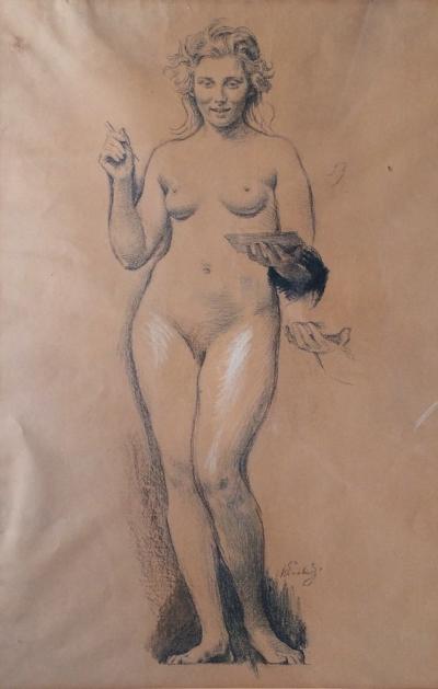 Švabinský Max (1873 - 1962) : Dívčí akt