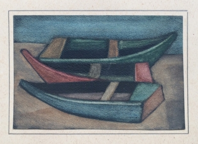 Beneš Vlastimil (1919 - 1981) : Loďky na břehu