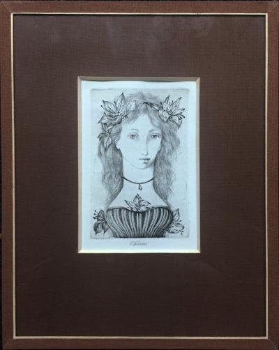 Jiřincová Ludmila (1912 - 1994) : Dívka s květinami
