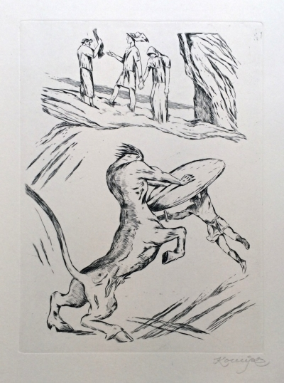 Konůpek Jan (1883 - 1950) : Theseus a Minotaurus