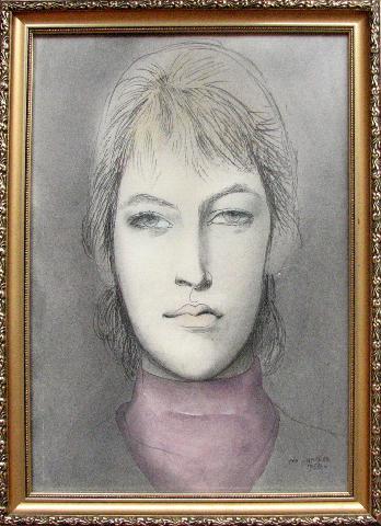 Janeček Ota (1919 - 1996) : Portrét dívky