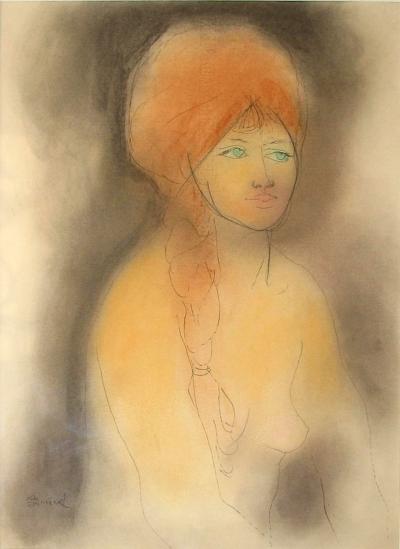 Janeček Ota (1919 - 1996) : Dívka s copem