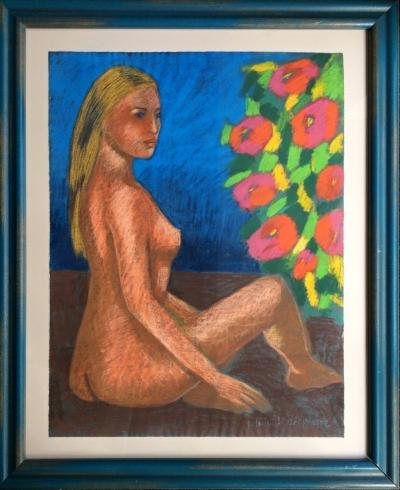 Střížek Antonín (1959) : Akt s květinami