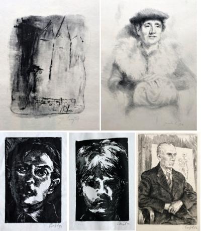 Šerých Jaroslav (1928 - 2014) : Konvolut 6 grafických listů