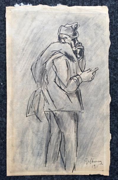Štursa Jan (1880 - 1925) : Studie c. a k. vojáka