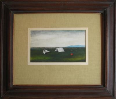 Lhoták Kamil (1912 - 1990) : Zelený terén (Bílé instrumenty)