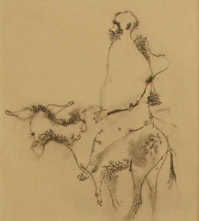 Trnka Jiří (1912 - 1969) : Muž na oslu
