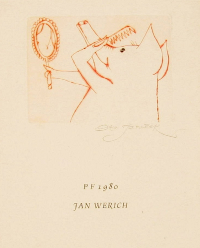 Janeček Ota (1919 - 1996) : P.F. 1980 Jan Werich
