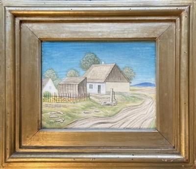 Zrzavý Jan (1890 - 1977) : Vesnické stavení