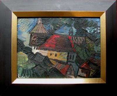 Klápště Jaroslav (1923 - 1999) : Kostel s farou