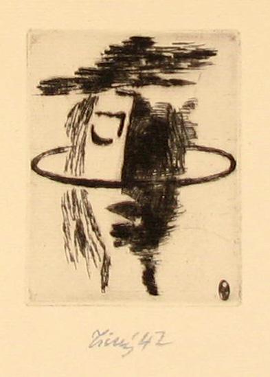 """Tichý František (1896 - 1961) : Frontispice ke knize """"Duchovní přátelství"""""""