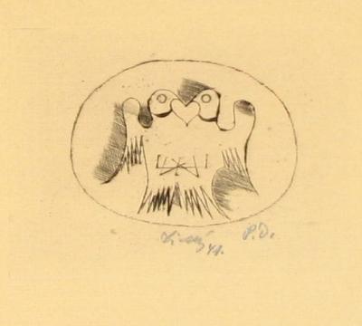 Tichý František (1896 - 1961) : Svatební oznámení dr. Jarmily Kubíčkové