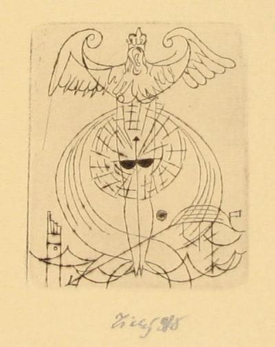 Tichý František (1896 - 1961) : Frontispice k Fargusovým vzpomínkám Fantomu
