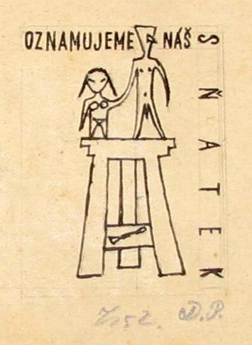 Tichý František (1896 - 1961) : Návrh na svat. oznámení