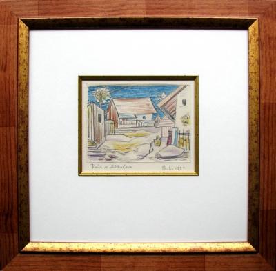 Zrzavý Jan (1890 - 1977) : Dvůr v Mozolové