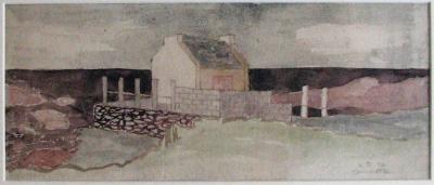Janeček Ota (1919 - 1996) : Dům na pobřeží, Bretagne
