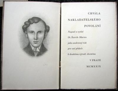 Zrzavý Jan (1890 - 1977) : Chvála nakladatelského povolání - bibliofilie