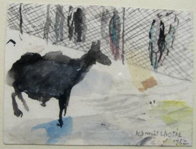 Lhoták Kamil (1912 - 1990) : Koza v ZOO