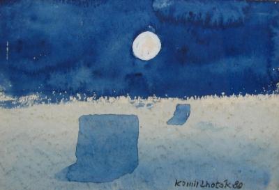 Lhoták Kamil (1912 - 1990) : Měsíc nad krajinou