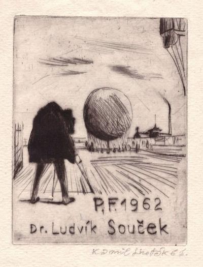 Lhoták Kamil (1912 - 1990) : P.F. 1962 dr. Ludvík Souček